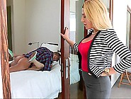 Beautiful Blonde Mom Watches Her Daughter Fuc...