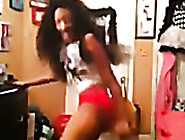 Sporty Ebony Chick Turns Out To Be A Gifted T...