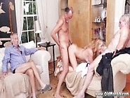Old Man Sucking Young Cock And Blonde Old Lad...
