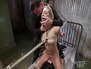 Shaved Pussy Blonde Slave Girl Dahlia Sky Get...