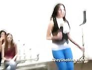 Crowd Of Women Watch Midget Fuck Woman