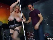 Fat Blonde Pole Dancer Is Often Getting Bange...