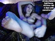 Super Creamy Arwen Fucks Herself With A Dildo