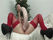 Girl In Red Stockings Uses World's Bigges...