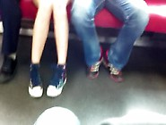 A Japanese Girl Upskirt No Panties On In Trai...