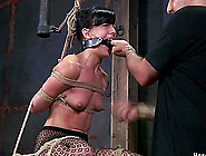 Sexy Bondage Damsel Small Tits Fondled In Bds...