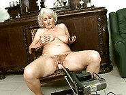 Perverted Granny Is Fucked With Sex Machine W...