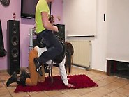 Master Saddles His Ponygirl And Rides Her
