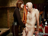 Sultry Redhead Maitresse Madeline Dresses Her...