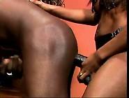 Ebony Girls Fuck A Guy With Strap On's