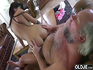 Sexy Young Girl Fucked By Fat Old Man Gets Cu...