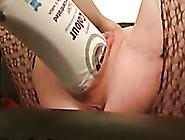 Skanky Wife Inserts Huge Shampoo Bottle In He...