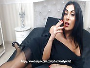 Sexy Black-Haired Milf Smoking A Capri 120&#0...