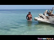Black Ssbbw Plays With Herself In The Sea On ...
