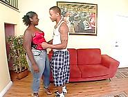 Big Booty Ebony Spreading Legs Having Her Pus...
