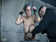 Extreme Tit Torture And Bdsm For Busty Babe A...