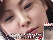 Subtitled Bottomless Japanese Pubic Hair Shav...