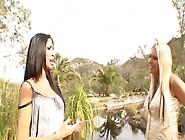 Hot Blonde Milf Takes A Lezzie Nature Walk