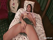 Young Asian Girl Plays With Her Little Tits A...