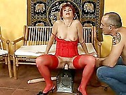 Dike Gets Her Elderly Pussy Fucked With All K...