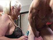 A Fat Blond Granny Is Getting Fucked By A You...