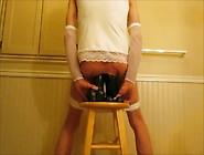 Panties Pulled Down Double Anal Huge Black Di...