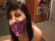 Charlotte Tape Gagged And Pantyhose Hooded