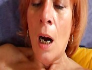 Redheaded Granny Plays With Her Dido