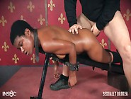 Rough Strapon And Cock Fucking For A Bound Bl...