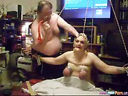 Grandma tied and fucked