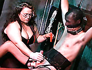 Bbw Mistress Tortures Her Slave Boy's Coc...