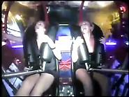 Girl Cums On Carnival Ride Slingshot