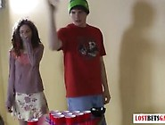 Three Girls And One Guy Play A Game Of Strip ...