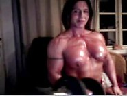 Fbb Lifting Weights And Posing On Cam