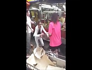 Girl Forced To Strip In Market