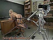 Giant Breasts Blonde Fucked By Machine