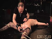 Pouring Wax On Teen Tits And Pussy Spanking H...