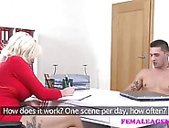 Big Tited Milf Agent Is Sucking A Young Guy�...