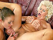 Mature Blonde Seduces A Pretty Chick And Make...