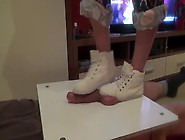 Girl In Sneakers Trample On Cock And Balls.  ...