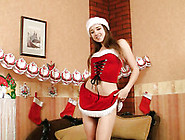 Mesmerizing Girl In Sexy Miss Santa Claus Out...