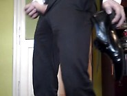 Dress Shoe Hanging On My Cock