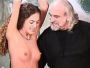 Nicole Is Strung Up By Her Master And Is Spre...