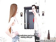 Naughty Girl Forced Her Boyfriend To Watch He...