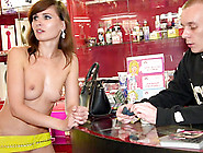 Naked Sales Girl Meet Customers In A Sex Shop