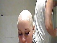 Woman Gets Shaved Bald,  Sucks Cock,  Then Ge...