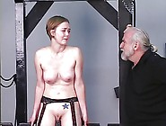 Young Blonde Receives Dog Training From Older...