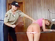 A Sexy Women Caned In Prison
