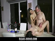 Hot Teens Fucked In Sensual Old Young Threeso...