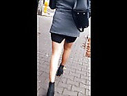 #78 Sexy Girl With Long Legs In Mini Skirt An...